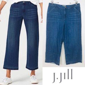 J.Jill Plus Size Full Leg Crop Raw Hem Jeans Sz 18